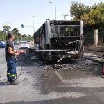 Φωτιά σε λεωφορείο