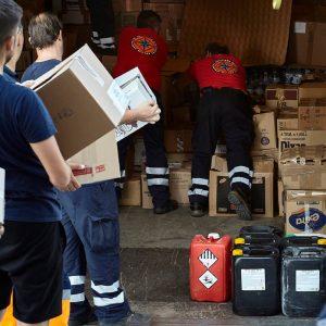 Ανθρωπιστική βοήθεια για τους πυρόπληκτους στην Εύβοια